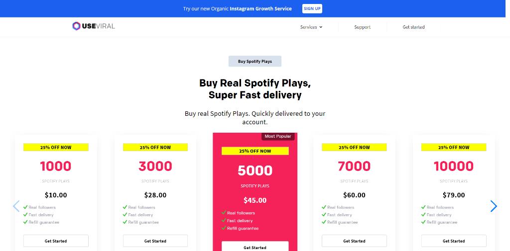 UseViral Spotify Plays