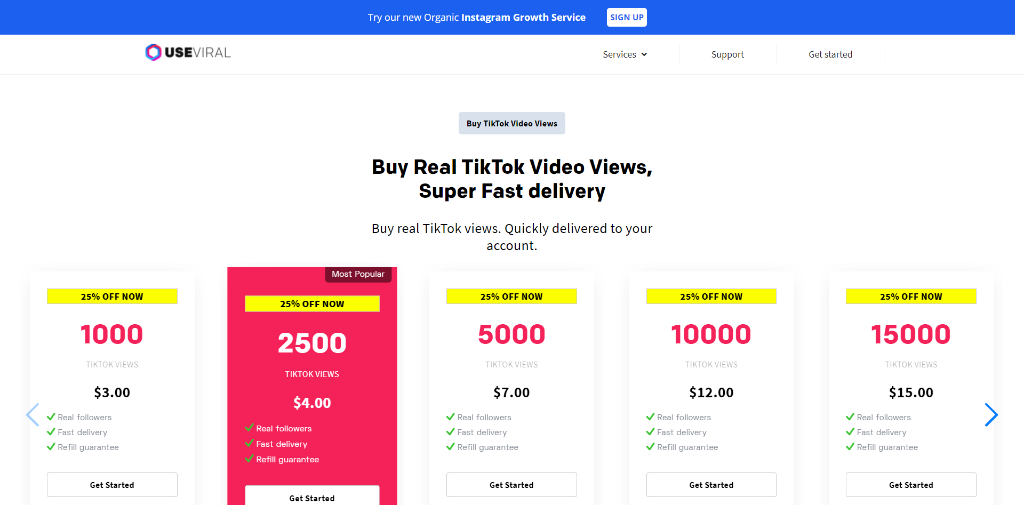 UseViral - Buy TikTok Views
