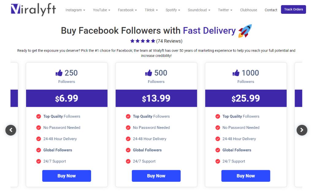 Viralyft Facebook Followers