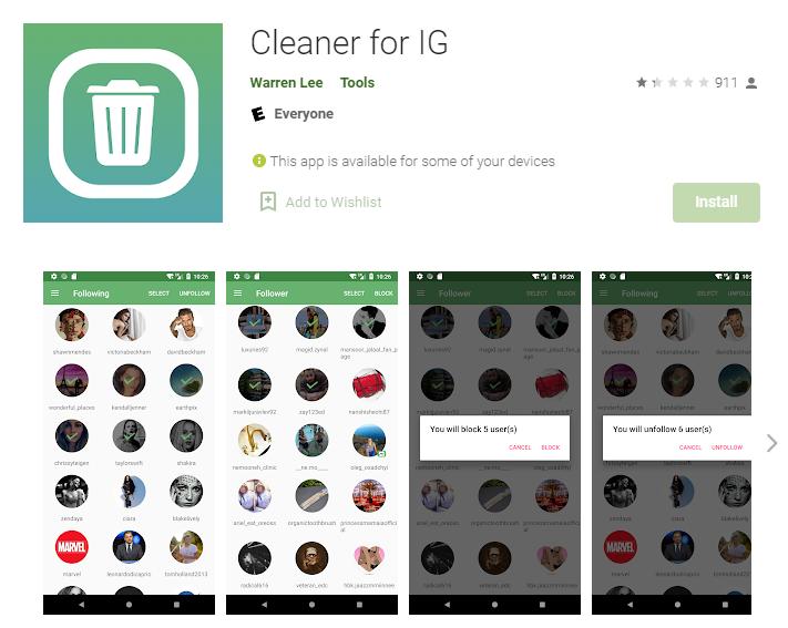 Cleaner for IG