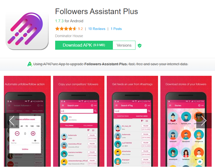 Followers Assistant Plus