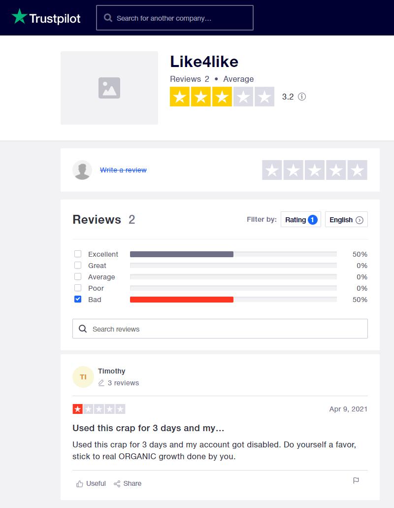 Like4Like Trustpilot