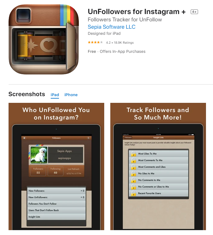 Unfollow for Instagram App