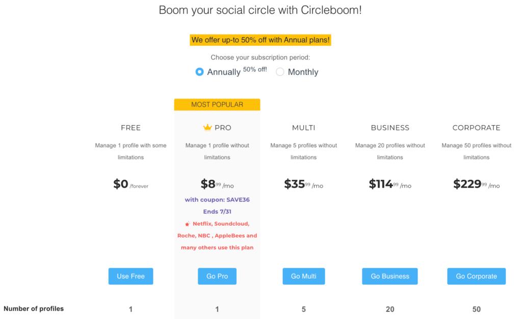 Circleboom Pricing