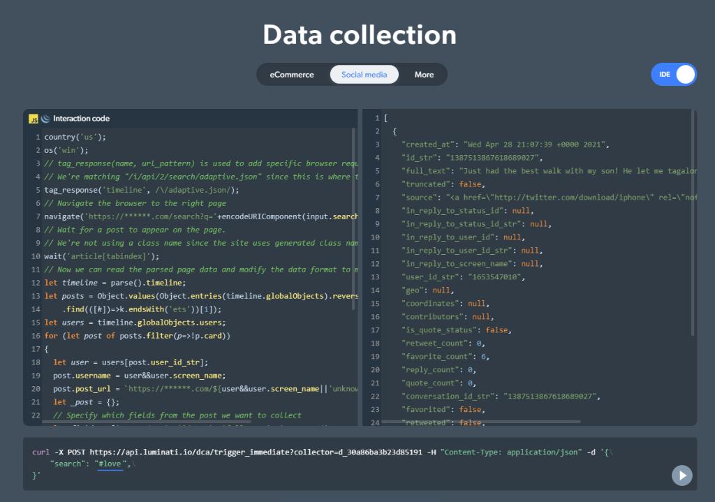 Bright Data Data collection
