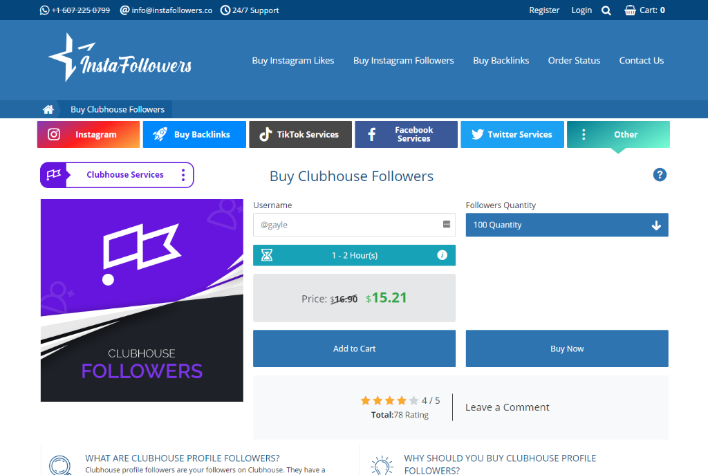 Instafollowers Clubhouse Followers