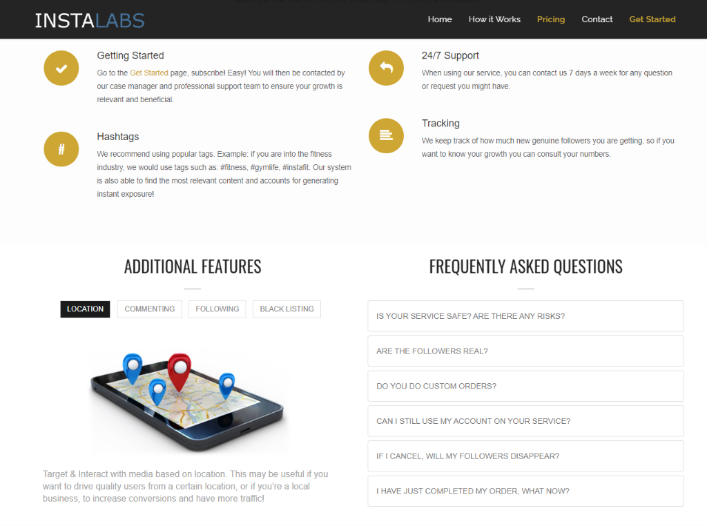 Instalabs Features Work