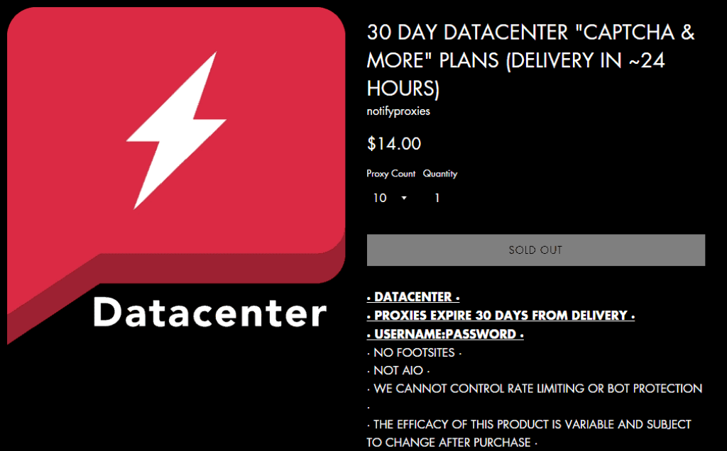 Notify Proxies Datacenter