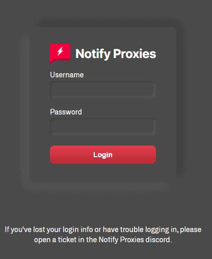 Notify Proxies Login