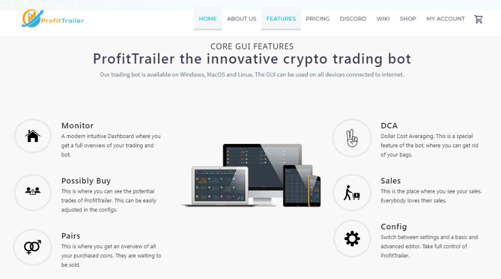 ProfitTrailer Features