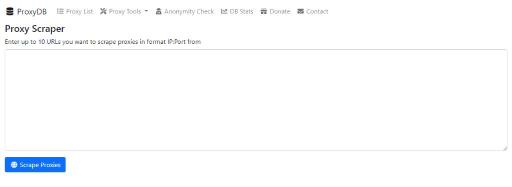 ProxyDB Proxy Scraper (Online / Web)