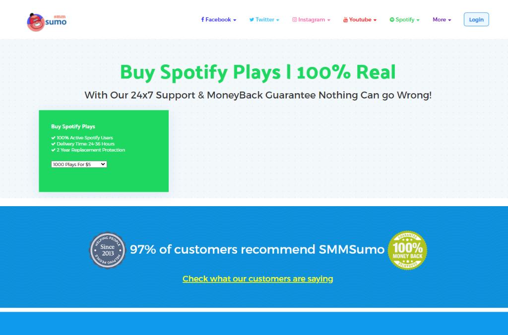 SMM Sumo Spotify Plays