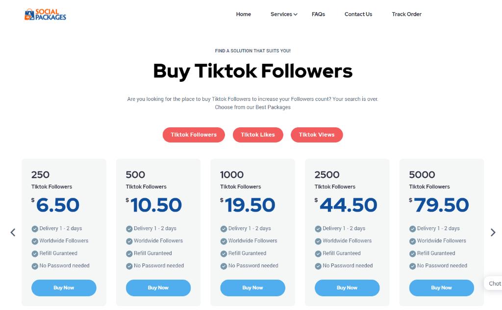 Social Packages Tiktok Followers