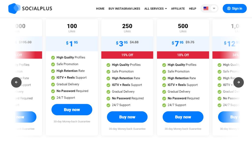 SocialPlus Pricing