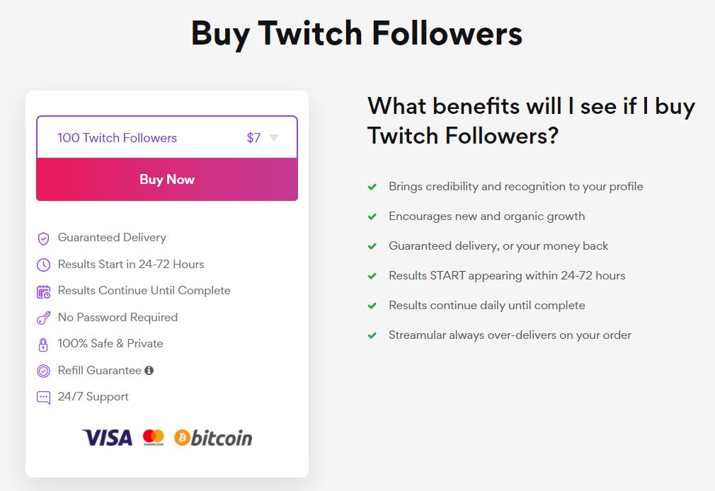Streamular Twitch Followers