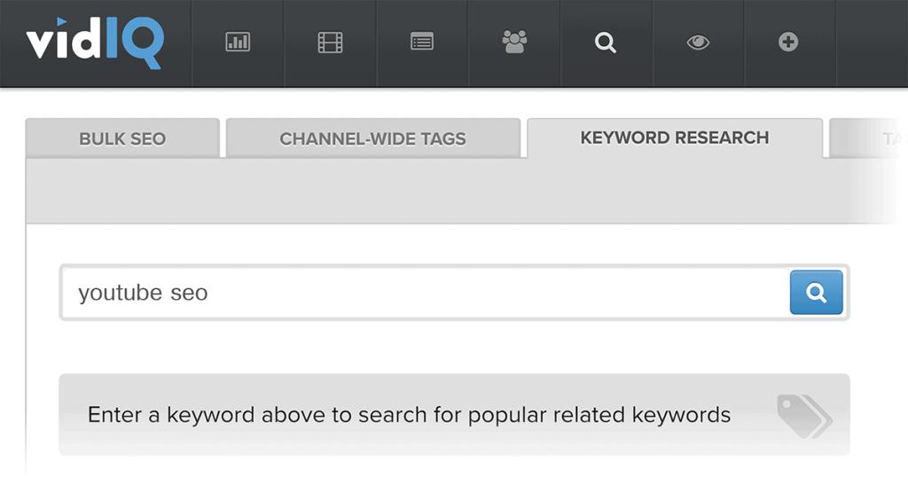 VidIQ SEO & Keywords