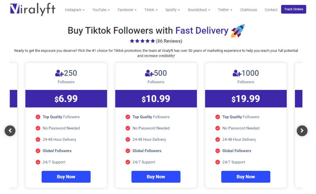 Viralyft Tiktok Followers
