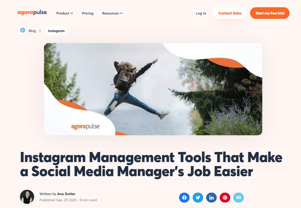 Agorapulse: Instagram Management Tool