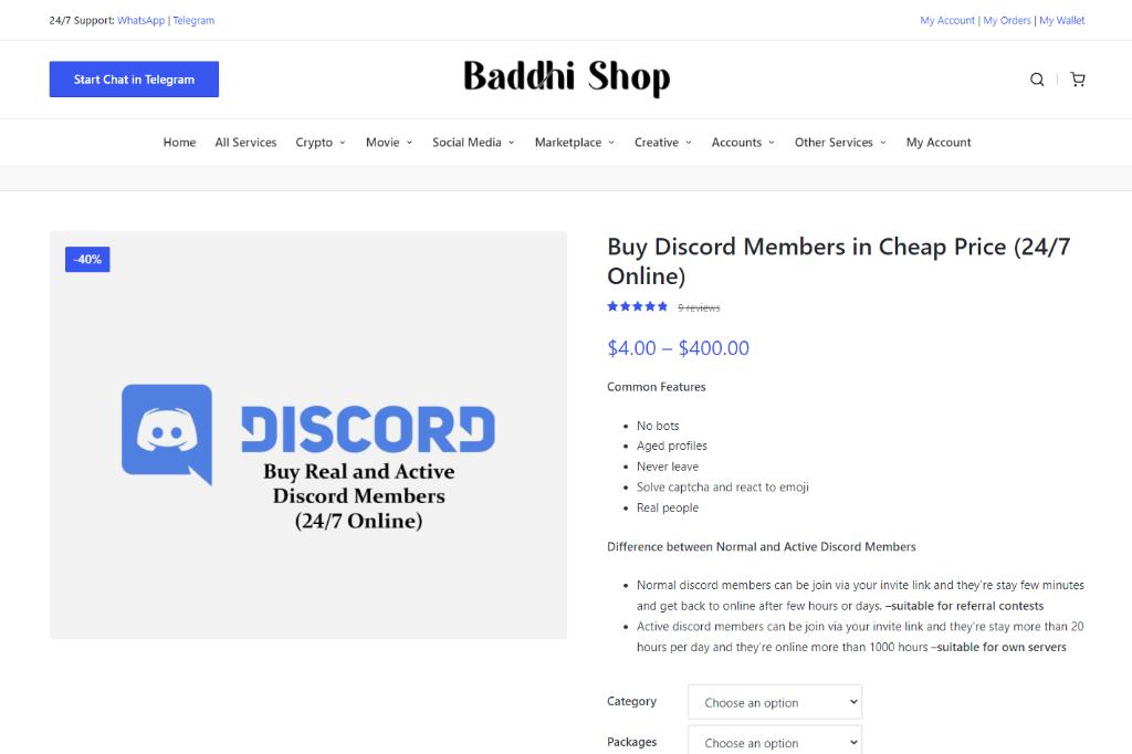 Baddhi Shop Discord Members