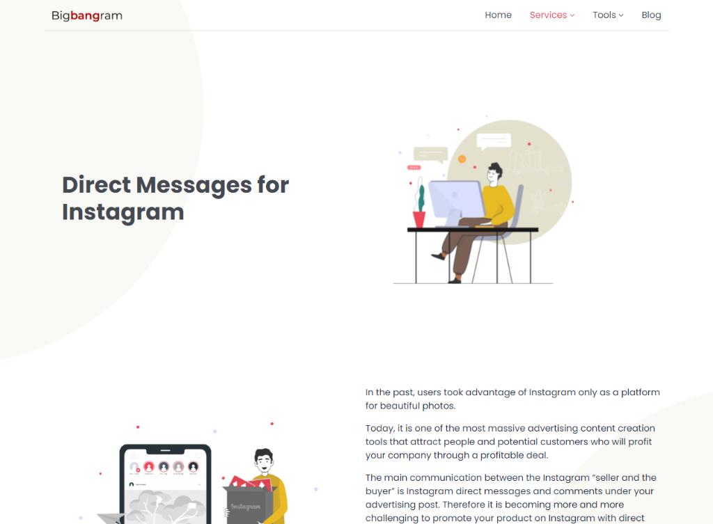 BigBangram Direct Messages