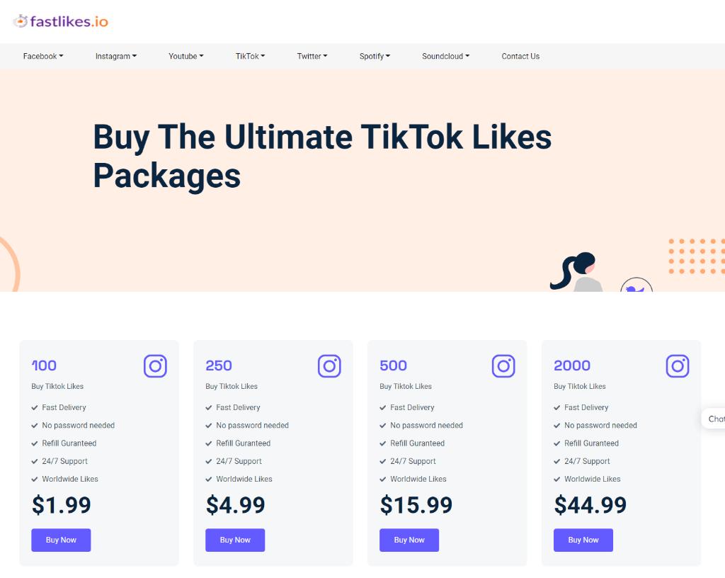 Fastlikes.io TikTok Likes