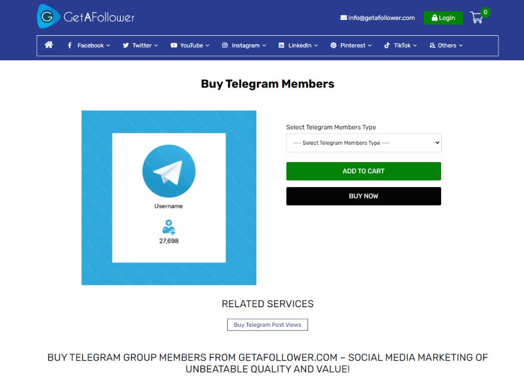 GetAFollower Telegram Members