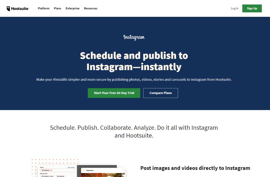 Hootsuite: Instagram Management Tool