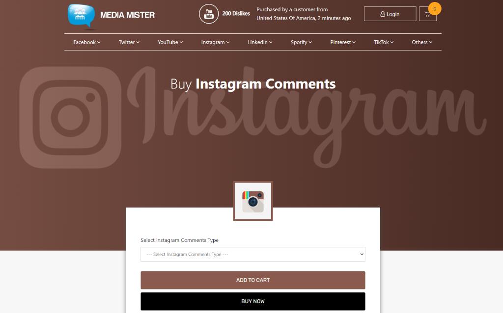 Media Mister Instagram Comments