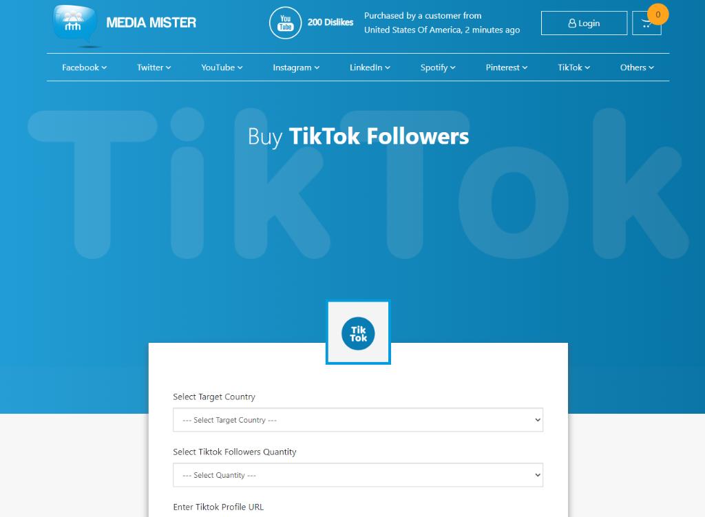 Media Mister TikTok Followers