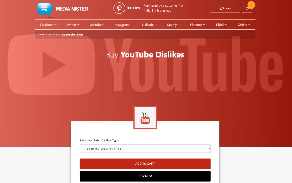 Media Mister YouTube Dislikes
