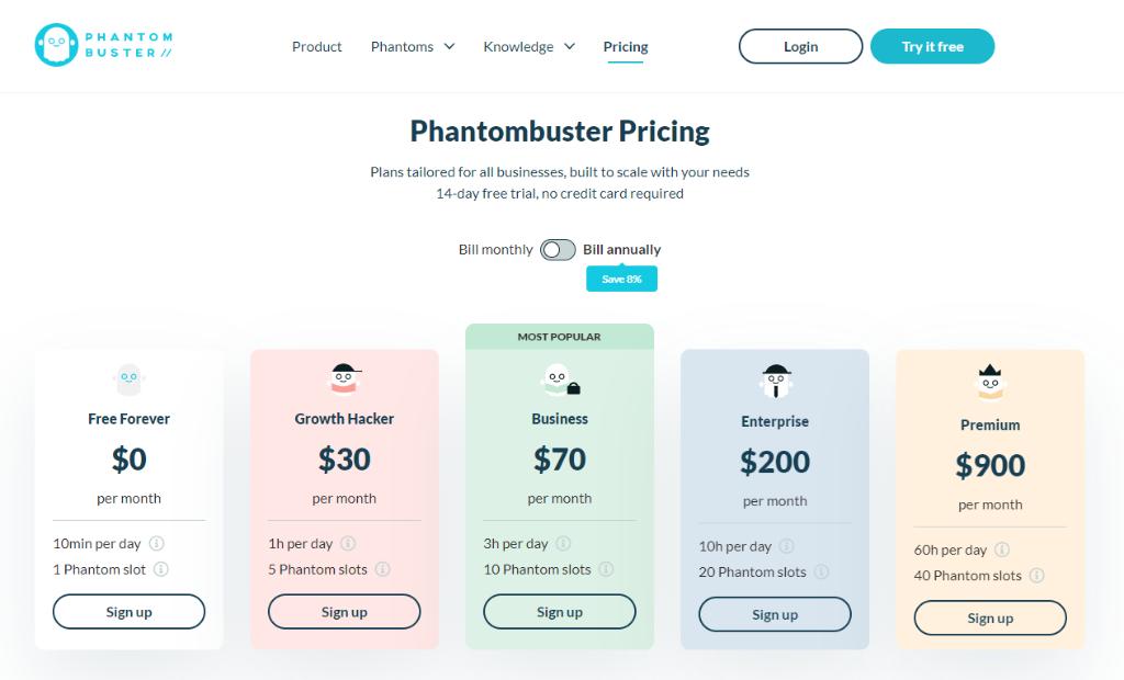 Phantombuster Pricing