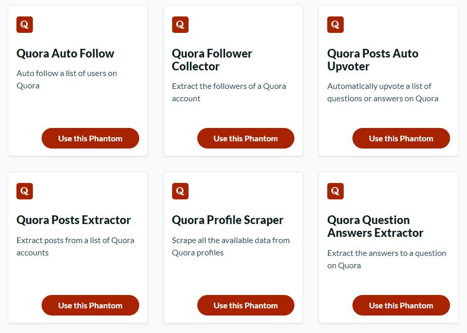 Phantombuster Quora