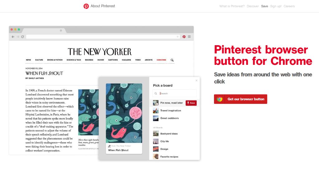 Pinterest Browser Button