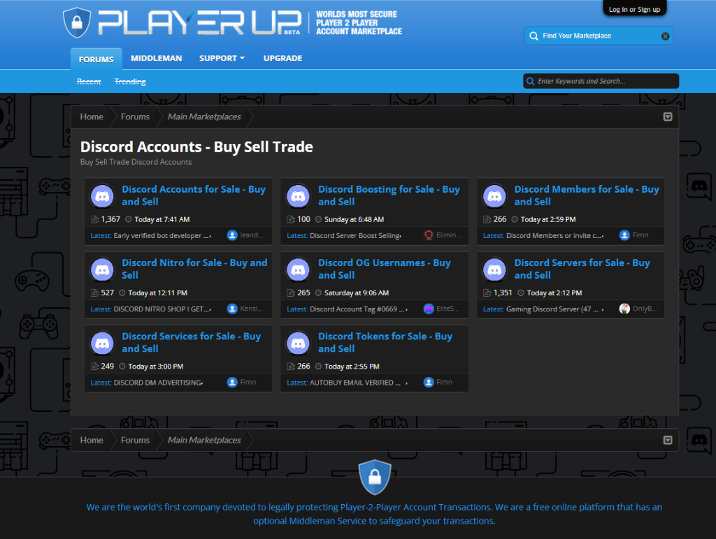 PlayerUp Discord Members