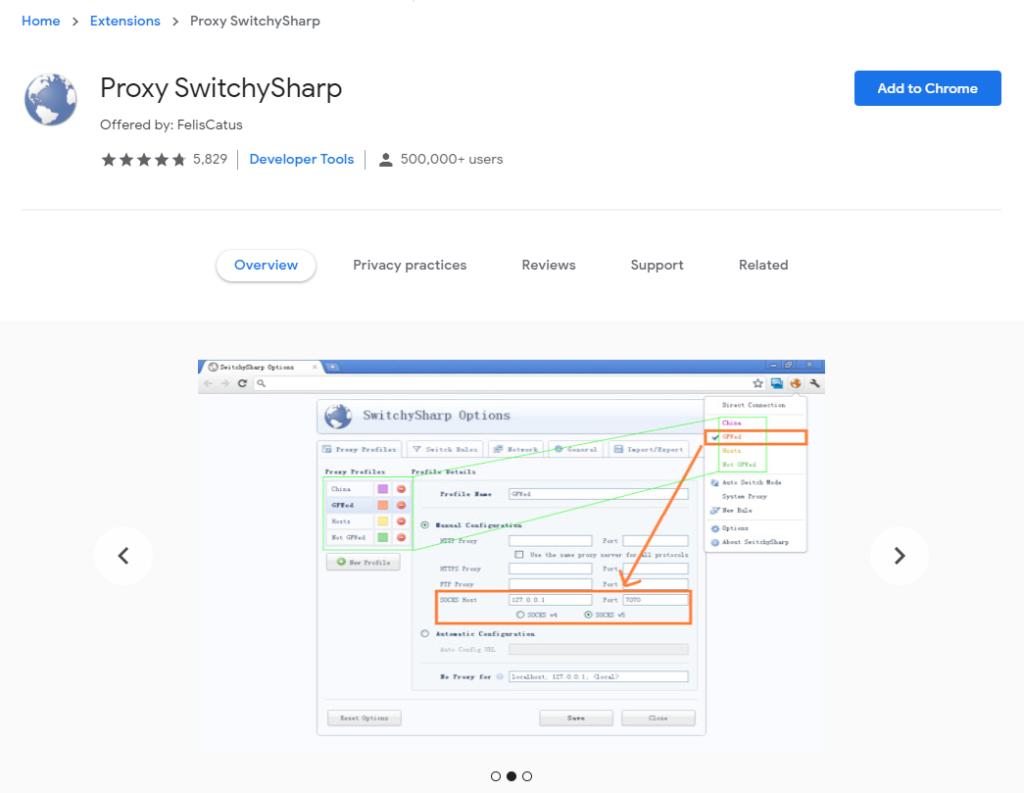 Proxy SwitchySharp