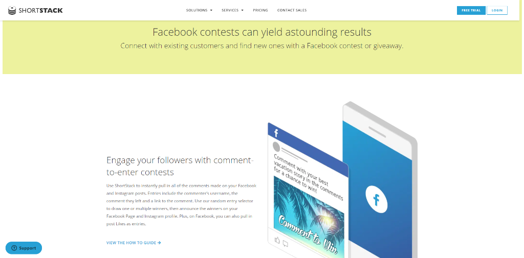 Shortstack Facebook