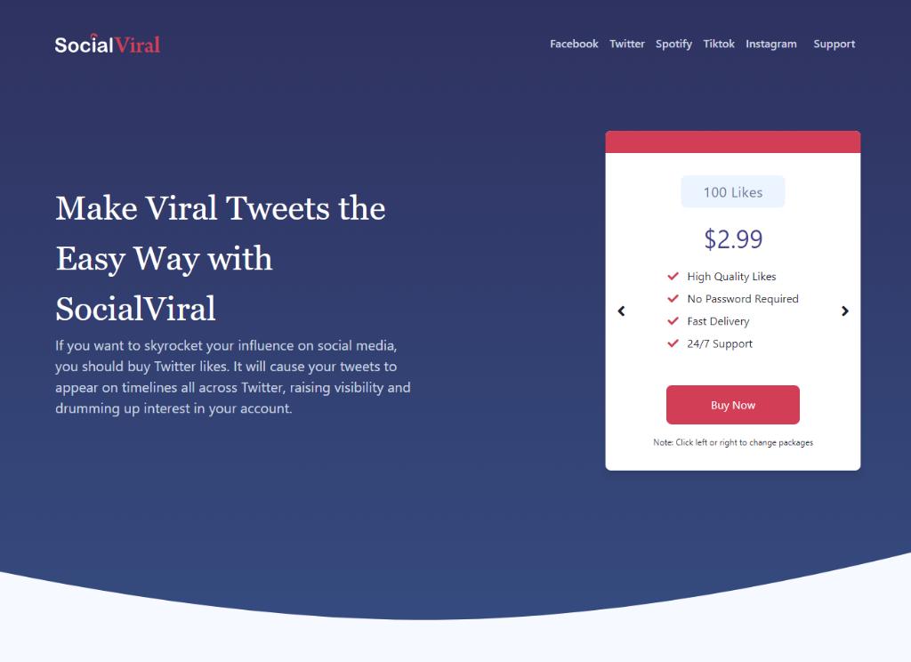 SocialViral Twitter Likes