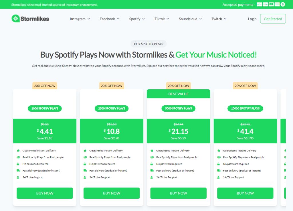 Stormlikes Spotify Plays