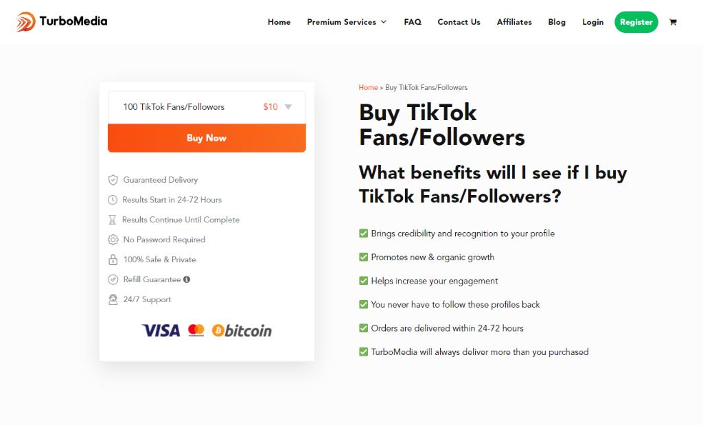 TurboMedia TikTok Fans-Followers