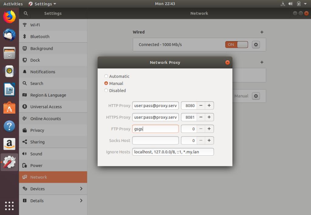 Ubuntu Desktop Network Settings