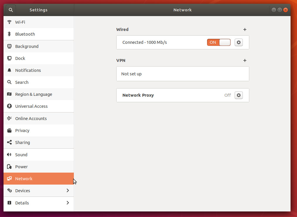 Ubuntu Desktop Network Settings 2