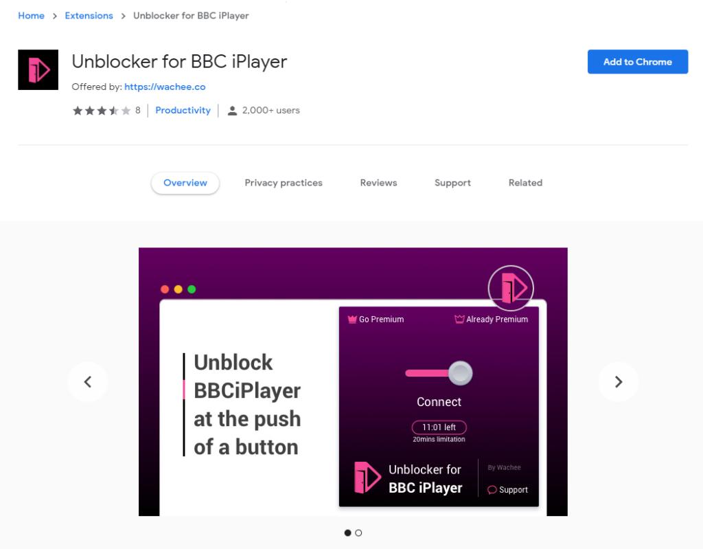 Unblocker for BBC iPlayer
