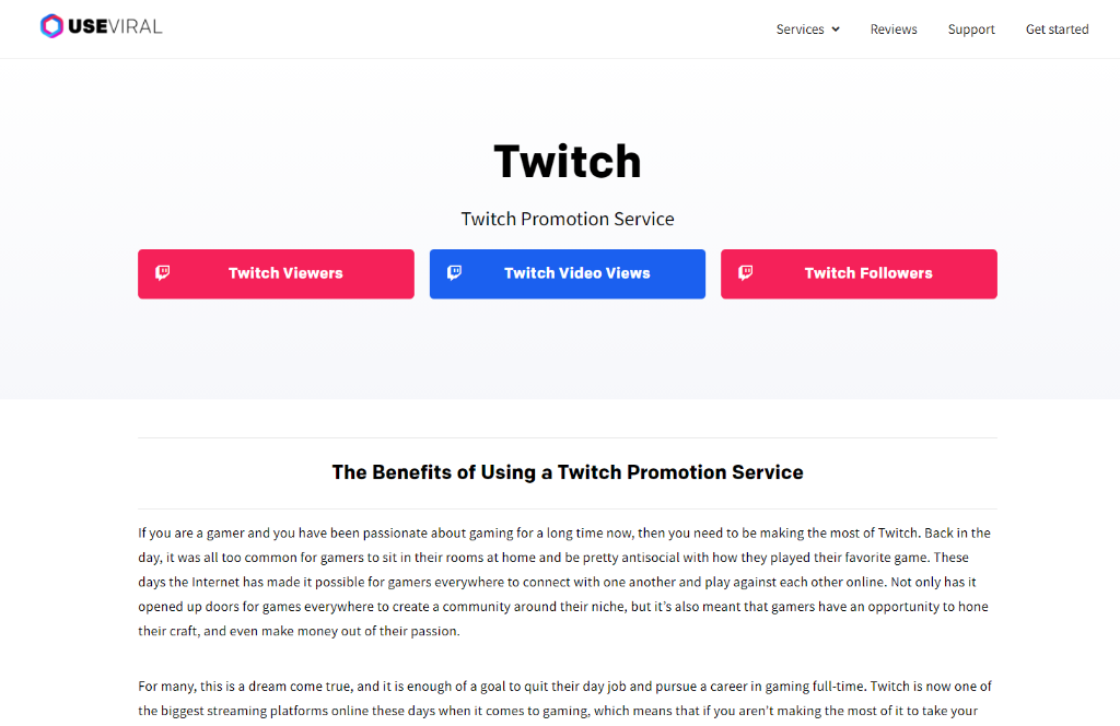 UseViral Twitch