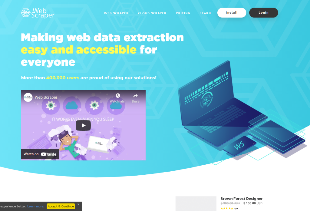 WebScraper Chrome Extension