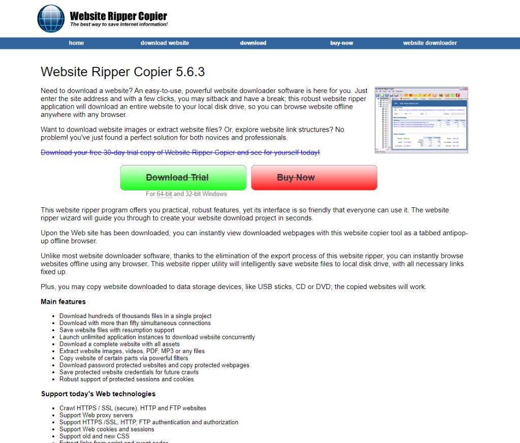 Website Ripper Copier