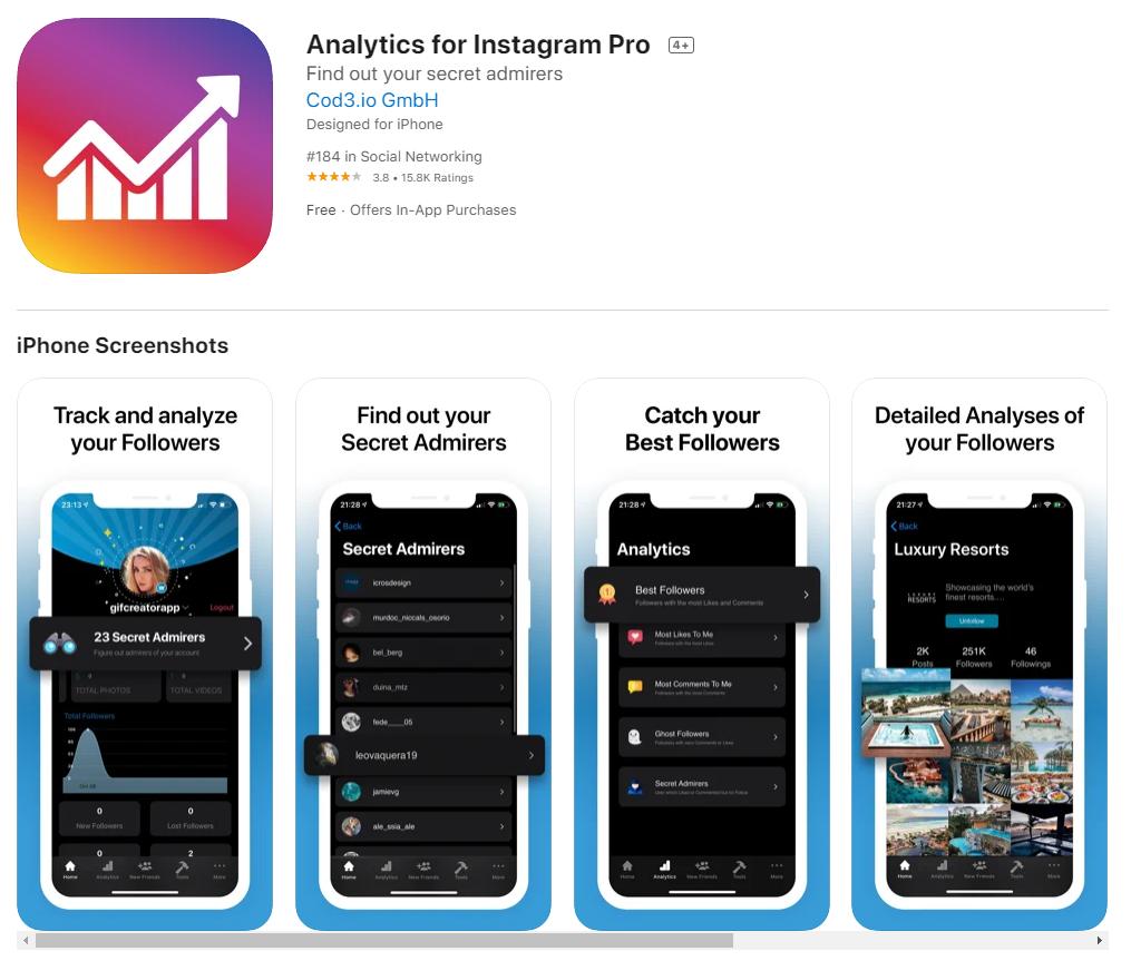 Analytics for Instagram