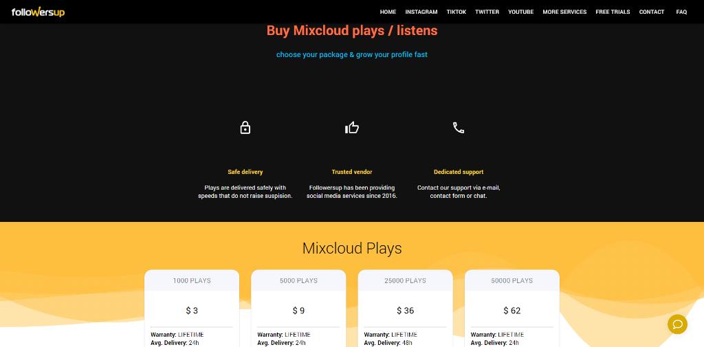 Followersup Mixcloud Plays