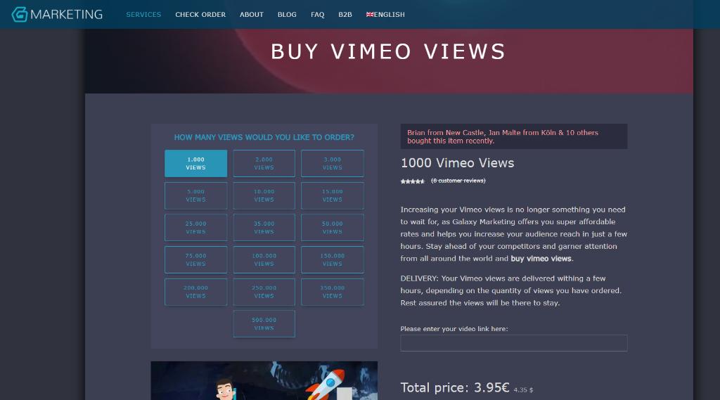Galaxy Marketing Vimeo Views