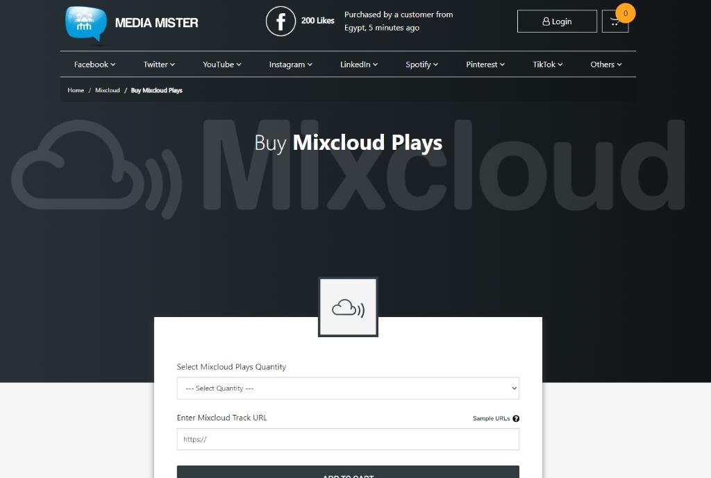 Media Mister Mixcloud Plays
