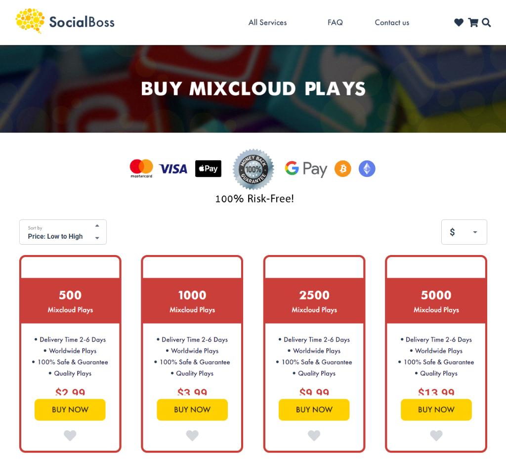 Social Boss Mixcloud Plays